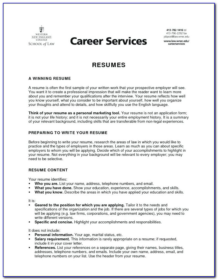 How To Prepare Resume For Career Fair