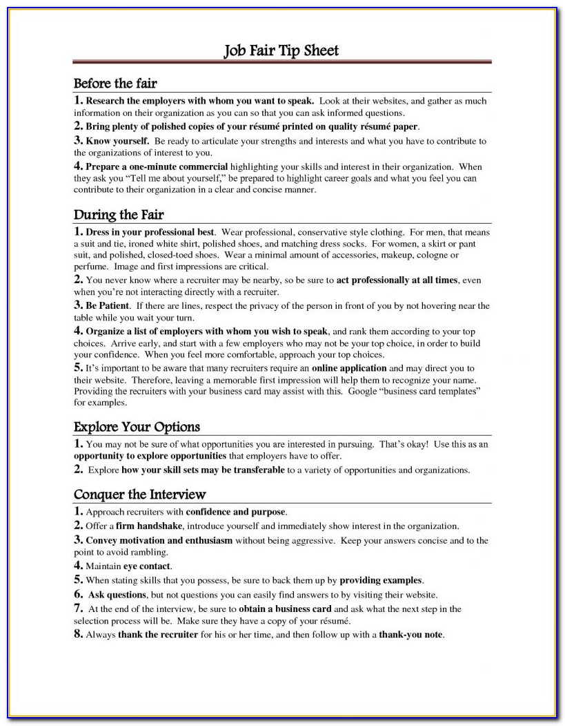 How To Prepare Your Resume For A Job Fair