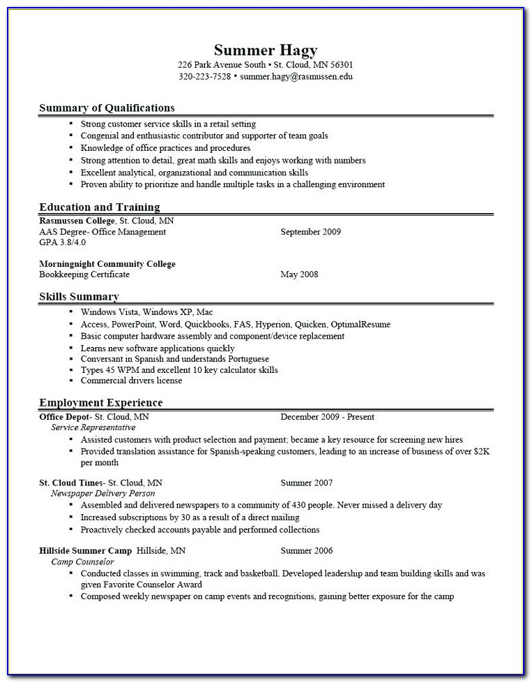 How To Type A Proper Resume