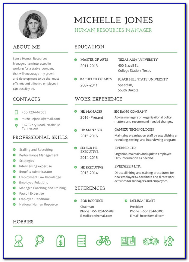Hr Resume Format In Word India