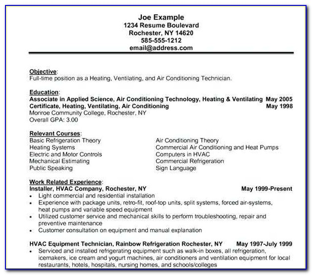 Hvac Installer Job Description For Resume Beautiful Hvac Resume Samples Resume Samples 8 Homey Design Templates Free