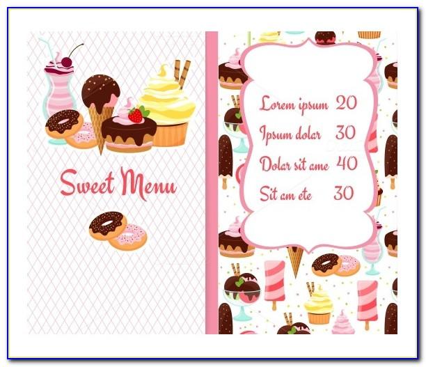 Ice Cream Menu Design Template Free Download