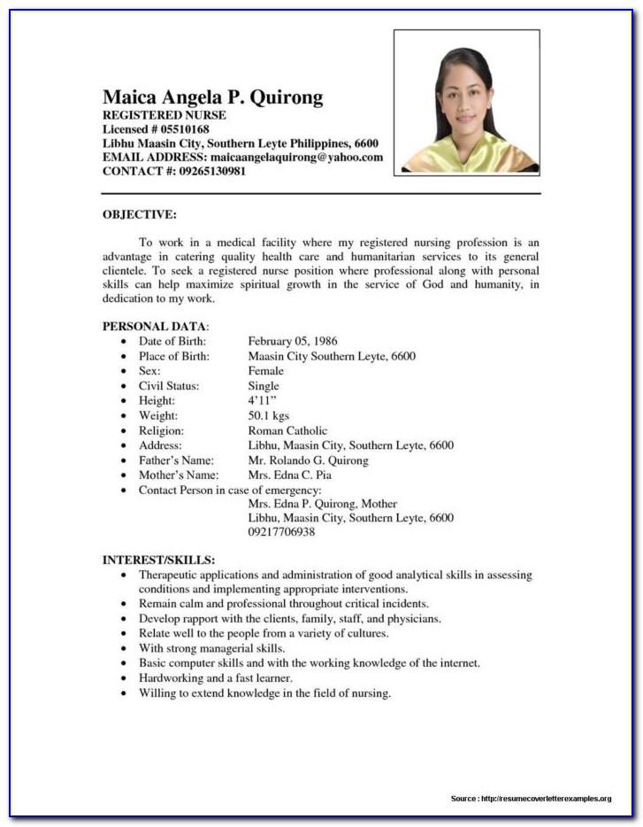 Icu Staff Nurse Resume Sample
