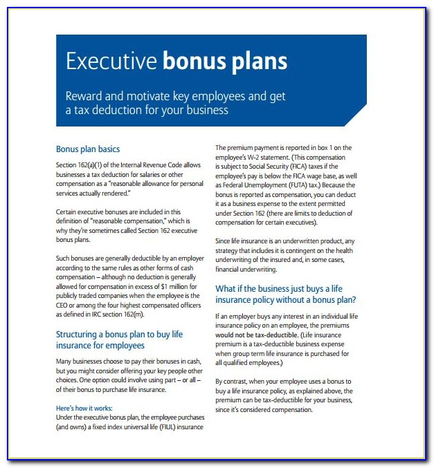 Incentive Compensation Plan Examples