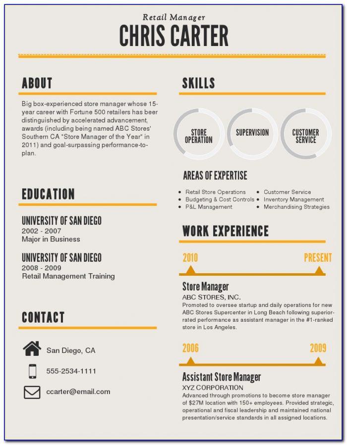 Infographic Resume Builder Software