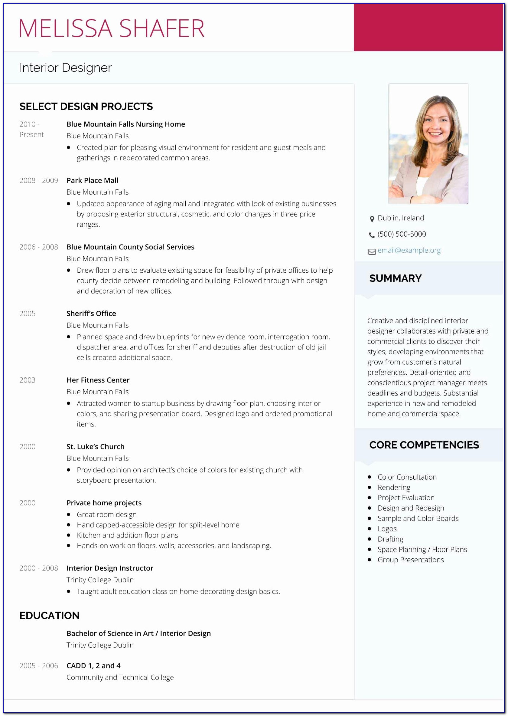Interior Designer Resume Format Download Elegant Interior Design Resume Examples Designer Cv Template Download Ex Sevte