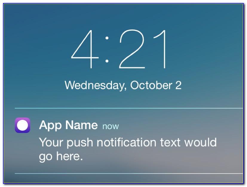 Ios Push Notification Template