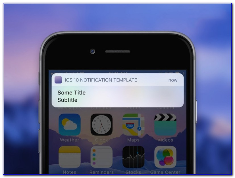 Iphone Push Notification Template Psd
