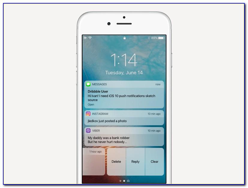 Iphone Push Notification Template