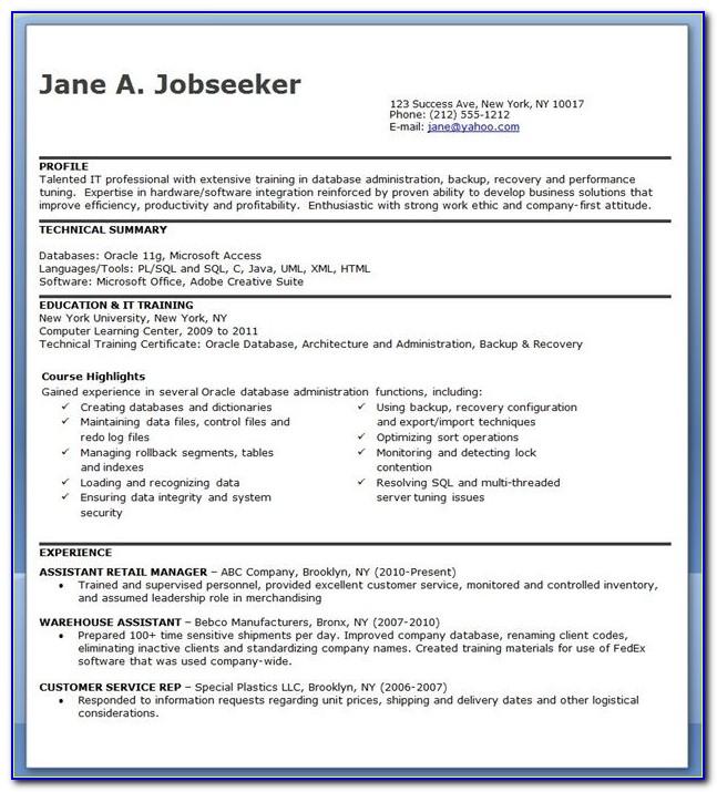Job Resume Database