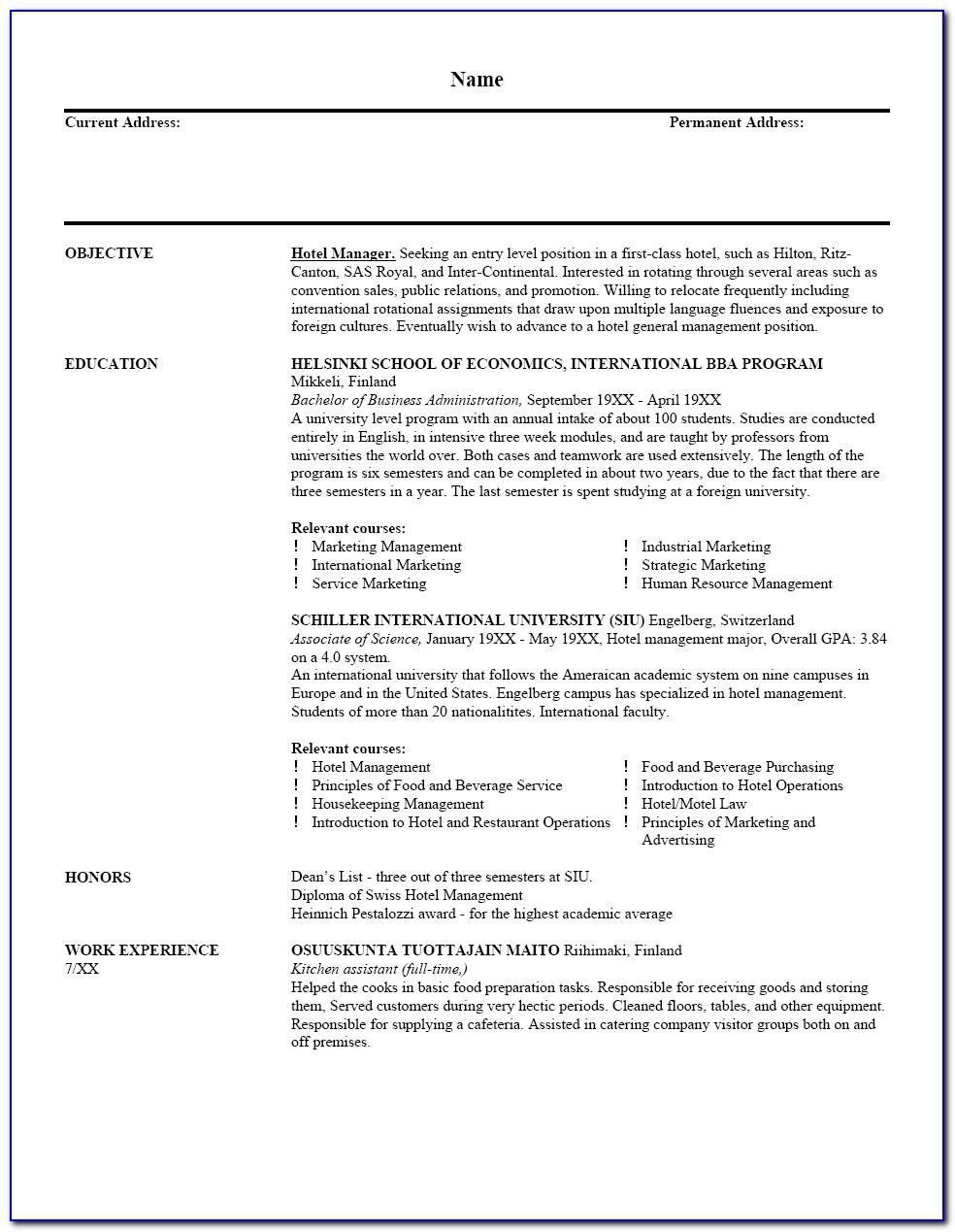 Job Resume Samples For Teachers