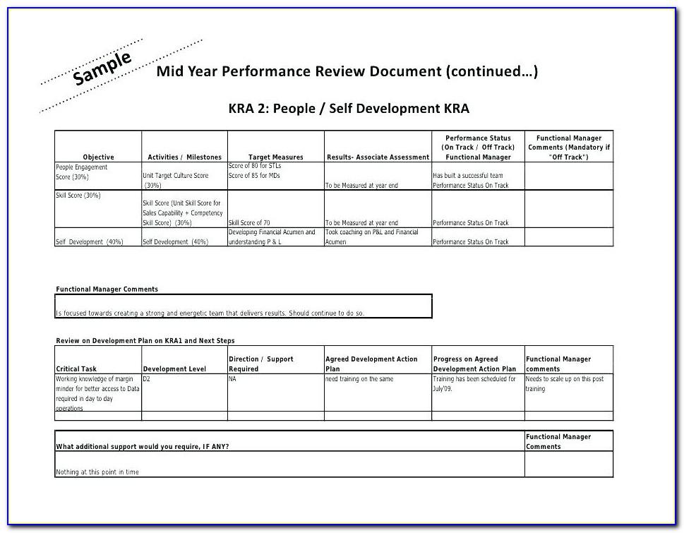 Kra Template Excel Sheet
