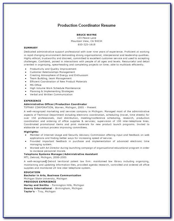 Lead Pastor Resume Template