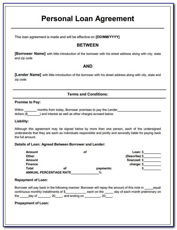 Loan Agreement Template Free