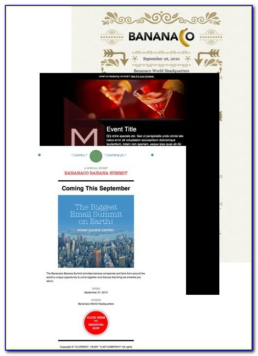 Mailchimp Event Templates