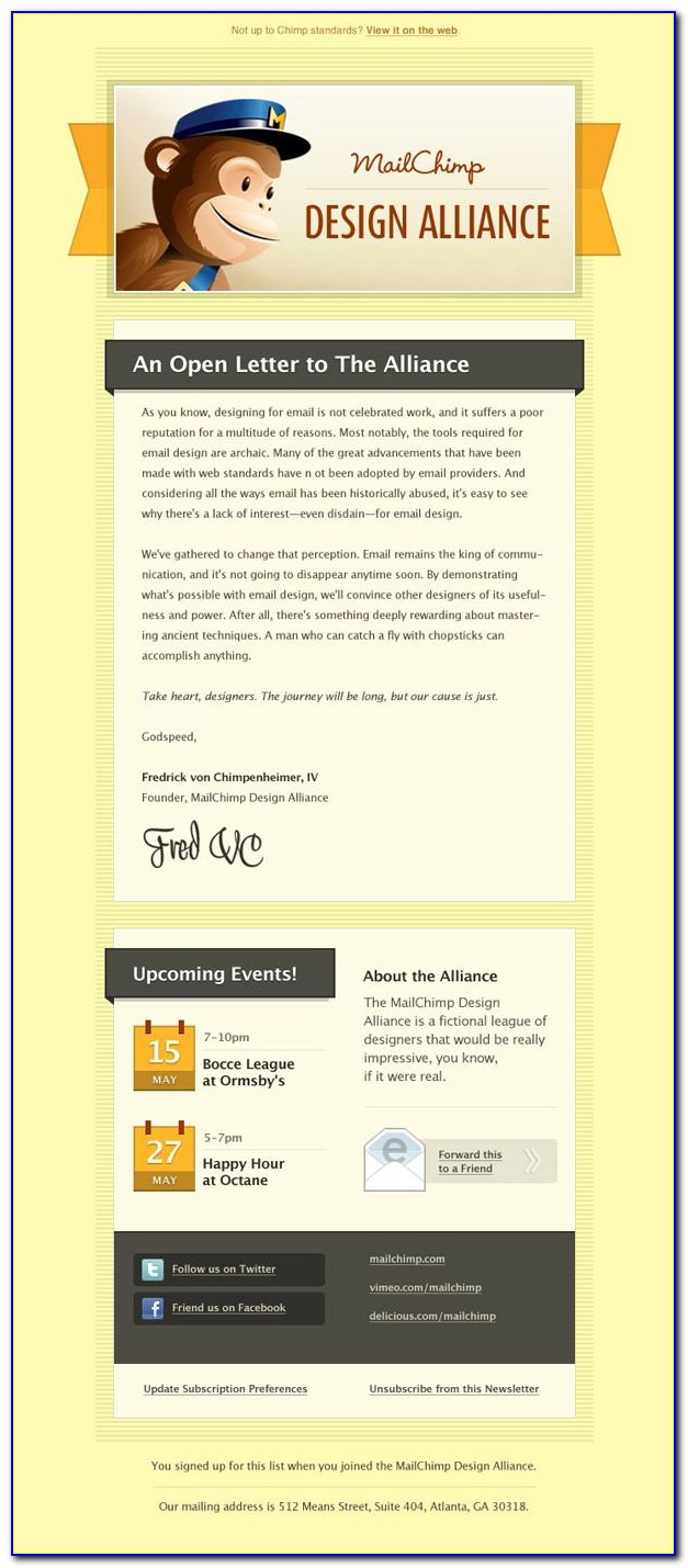 Mailchimp Newsletters Template