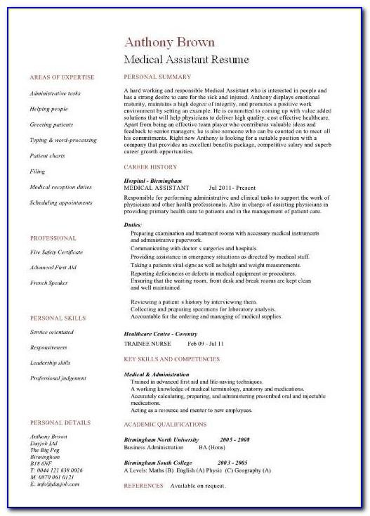Medical Coder Resume Template Free