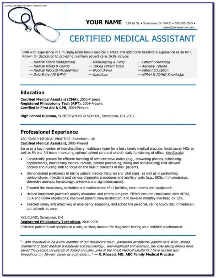 Free Medical Technologist Resume Template - Resume : Resume ...