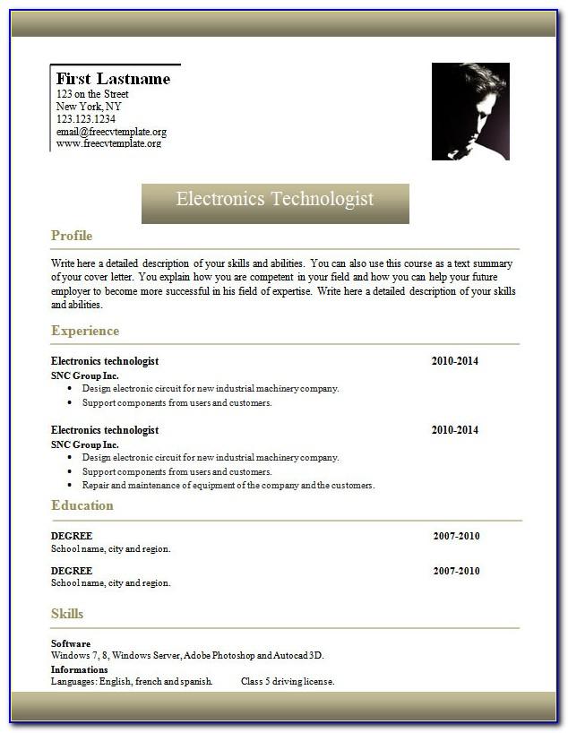 Microsoft Curriculum Vitae (cv) Templates