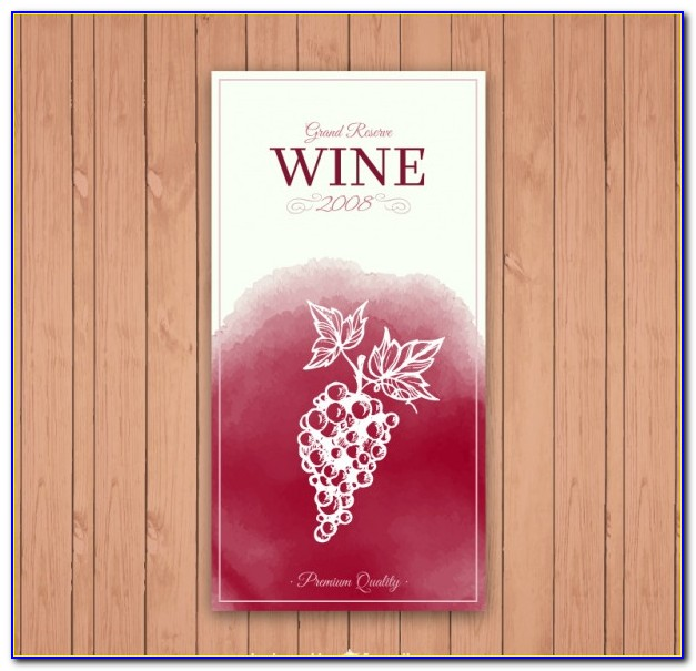 Mini Wine Bottle Label Template Free Download