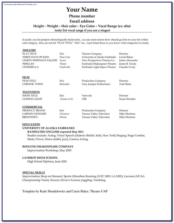 Microsoft Word 2010 Resume Template