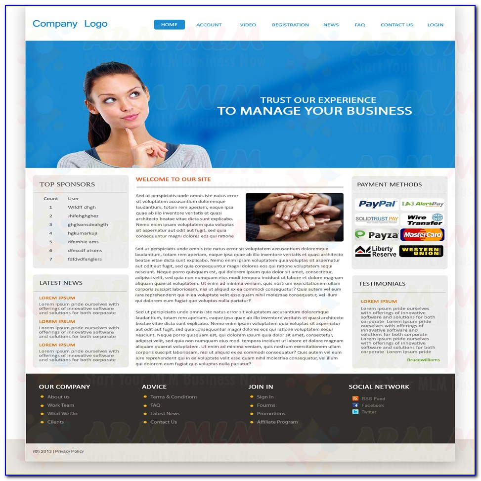 Mlm Website Template Free Download