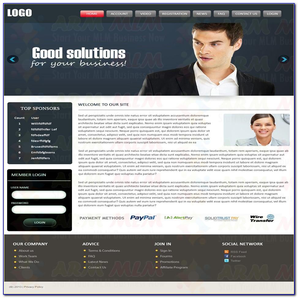 Mlm Website Template