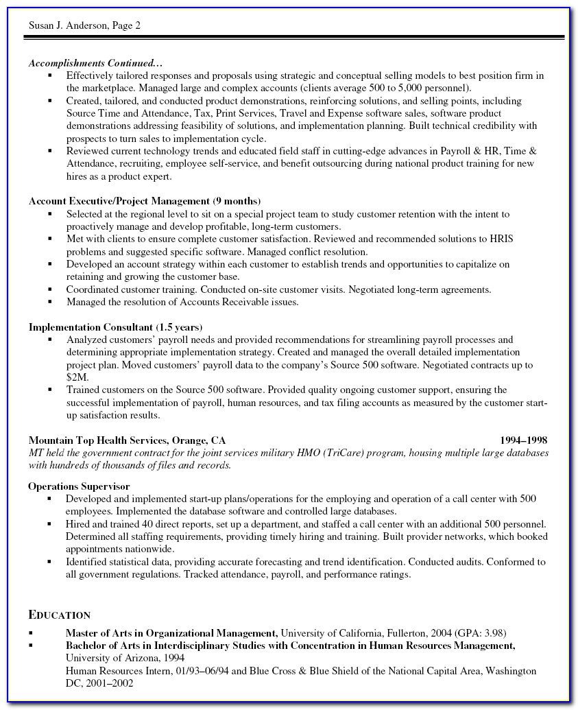 Modern Resume Template For Project Manager