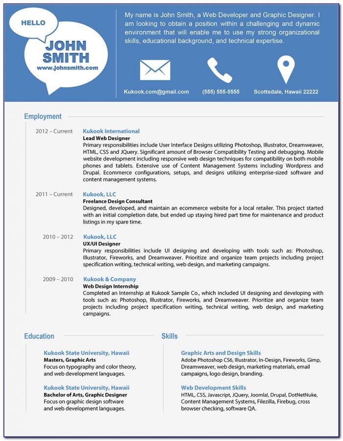 Modern Resume Templates Word Free Download