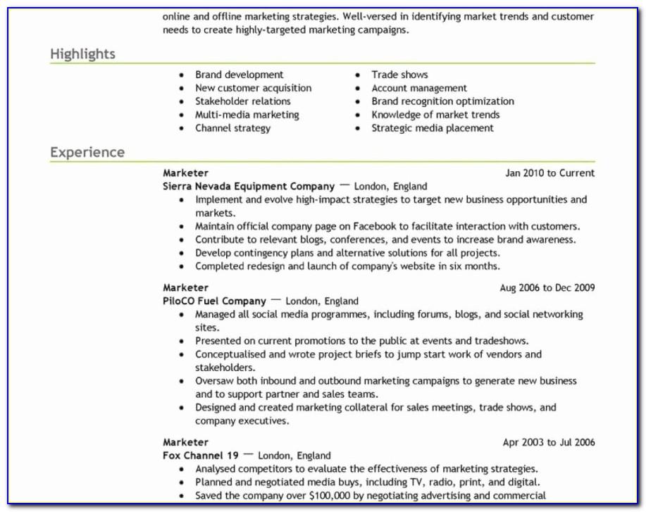 Monster Jobs Resume Builder