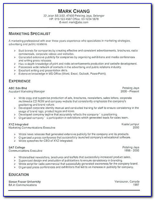Most Effective Resume Templates 2018