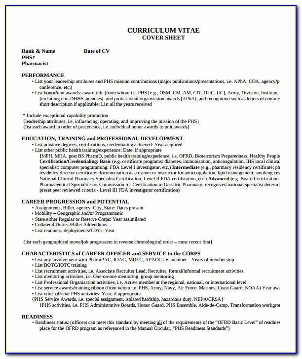 For Pharmacist Resume Pdf