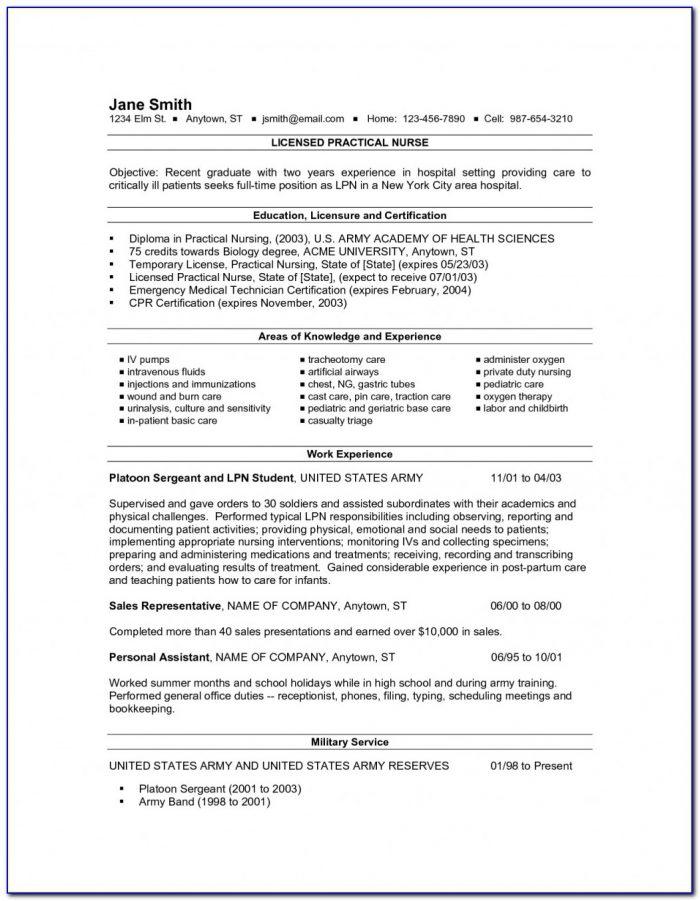 New Lpn Resume Sample