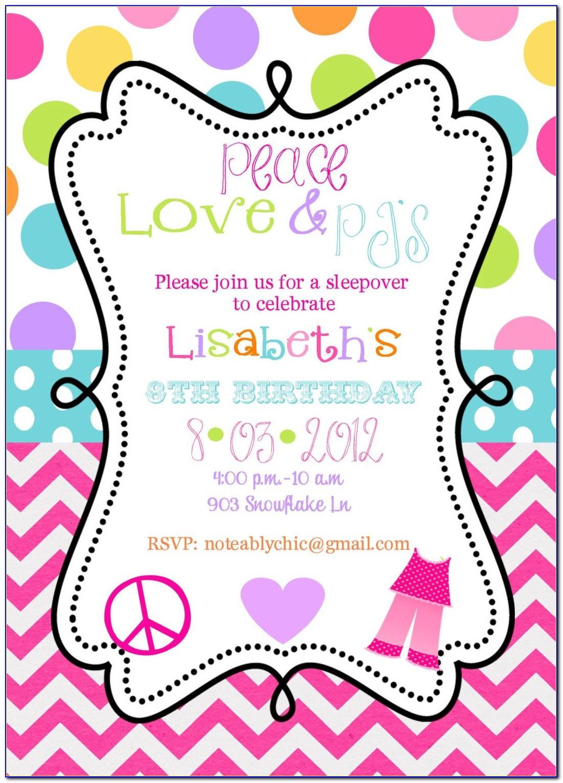 Newborn Baby Girl Party Invitation Template