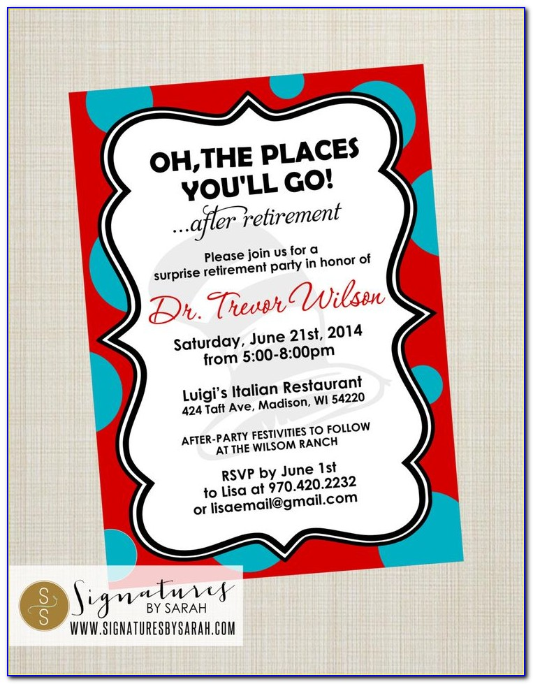 Oh The Places You'll Go Graduation Invitation Template Free