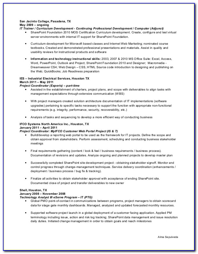 Oil And Gas Resume Writers Houston