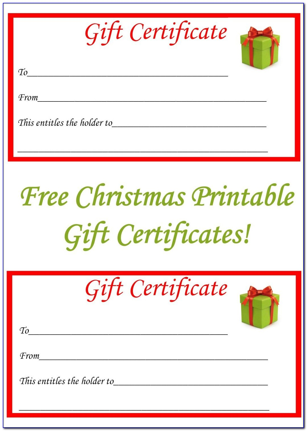 Online Printable Gift Certificate Template