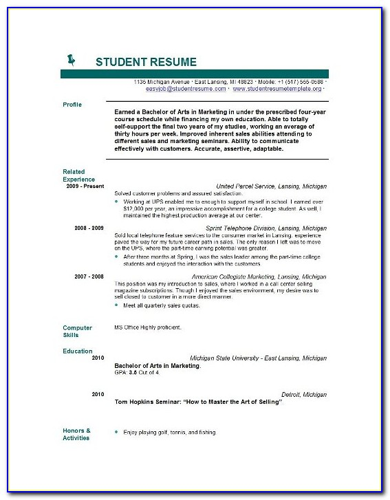 Online Resume Builder For Highschool Students
