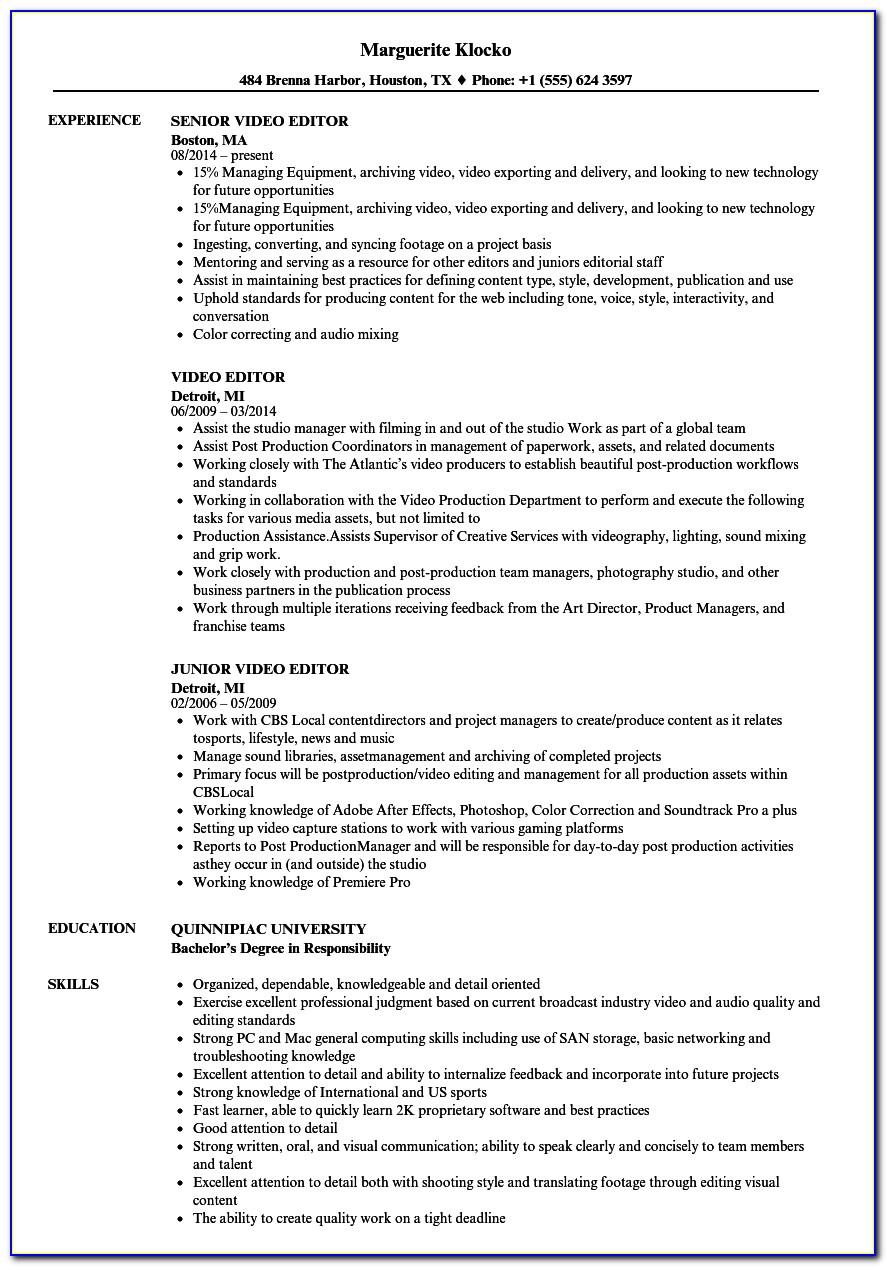 Online Resume Template Editor