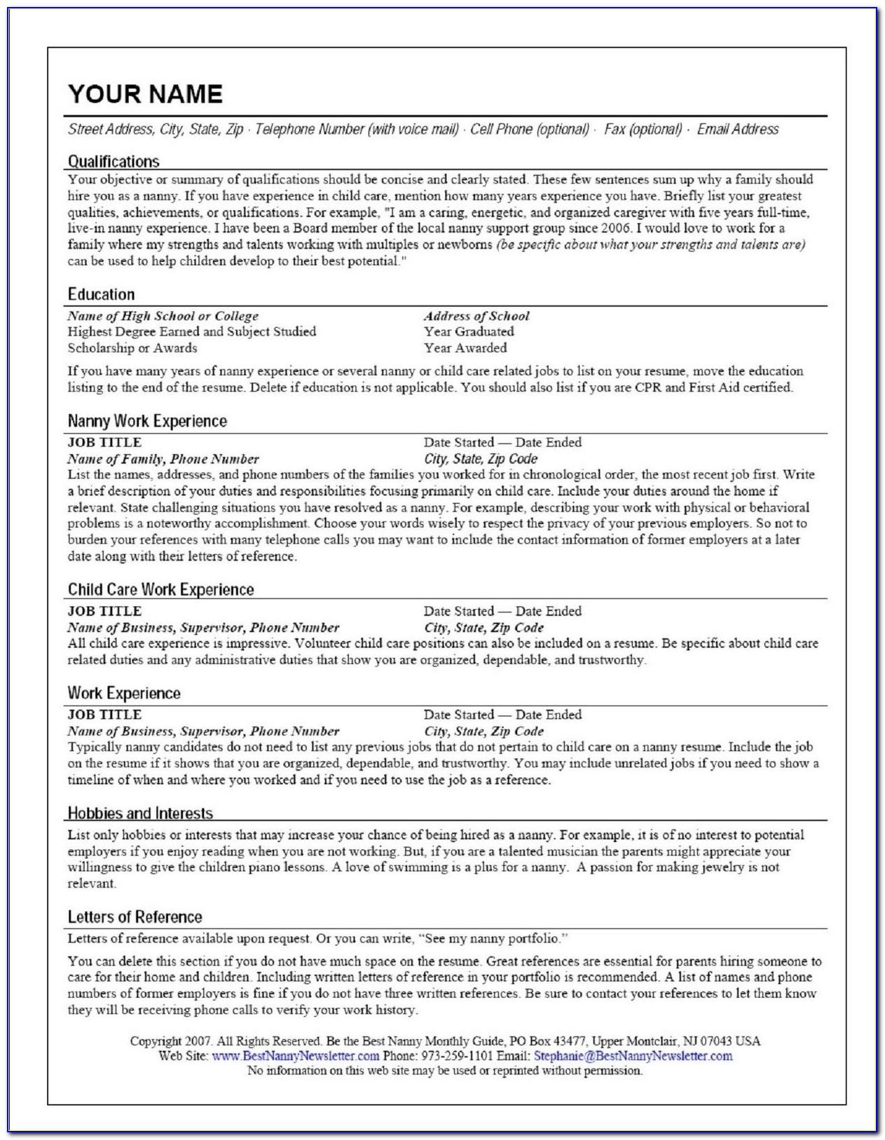 Online Resume Website Template Free