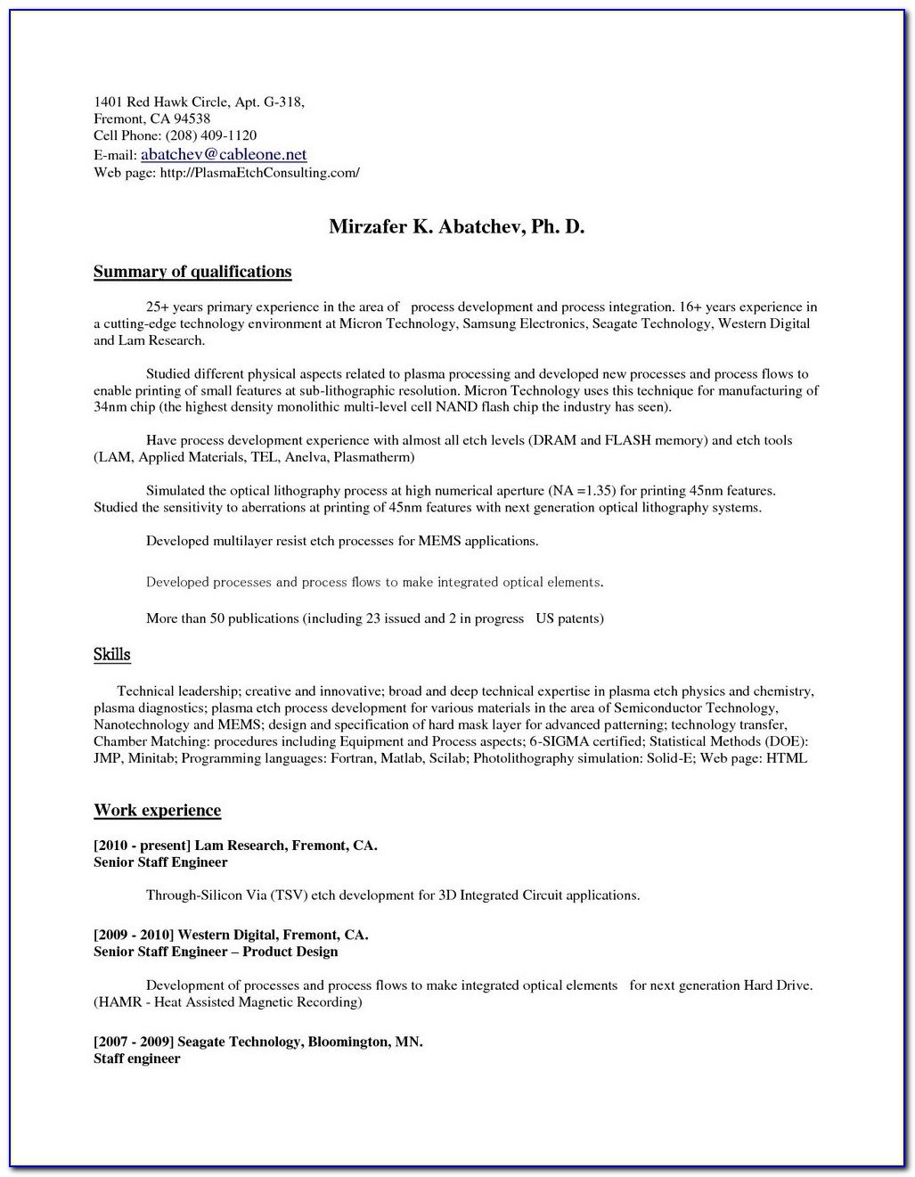 Online Resume Wizard