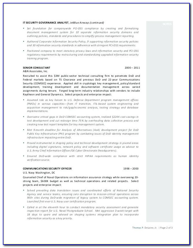 Pci Compliance Resume