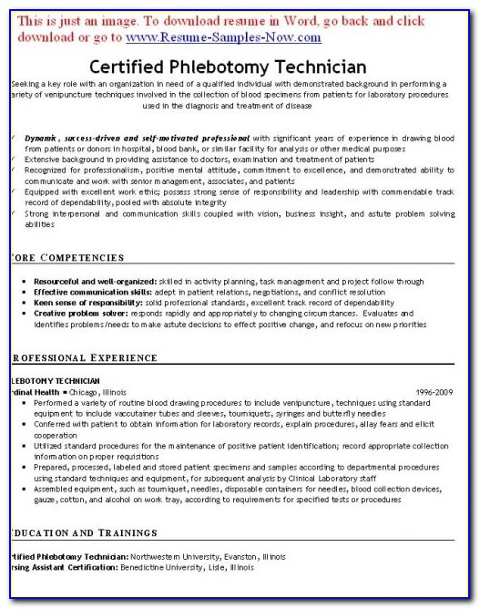Certified Phlebotomy Technician Resume Template Example Free Phlebotomy Technician Resume Phlebotomy Technician Resume