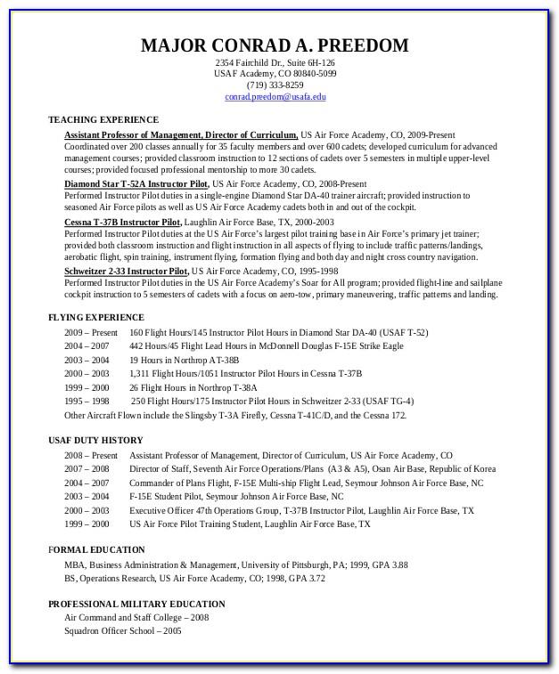 Pilot Resume Service