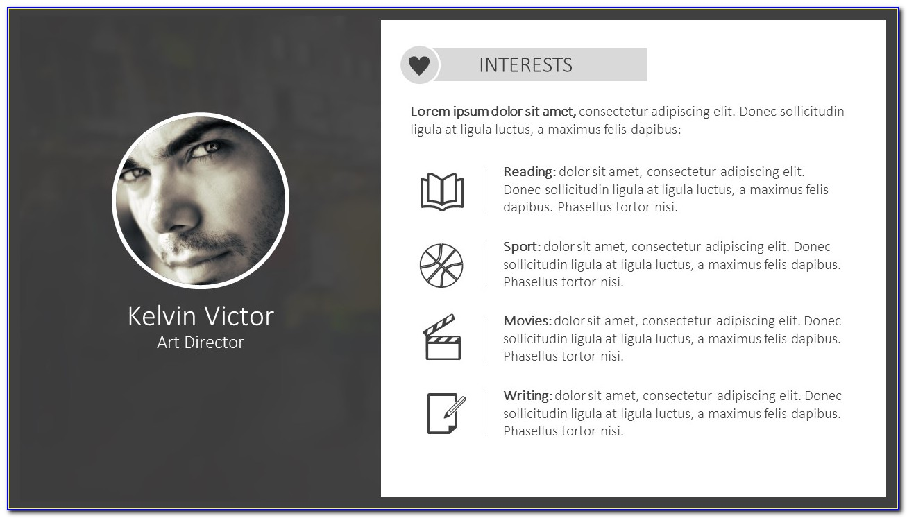Powerpoint Cv Template Free Download