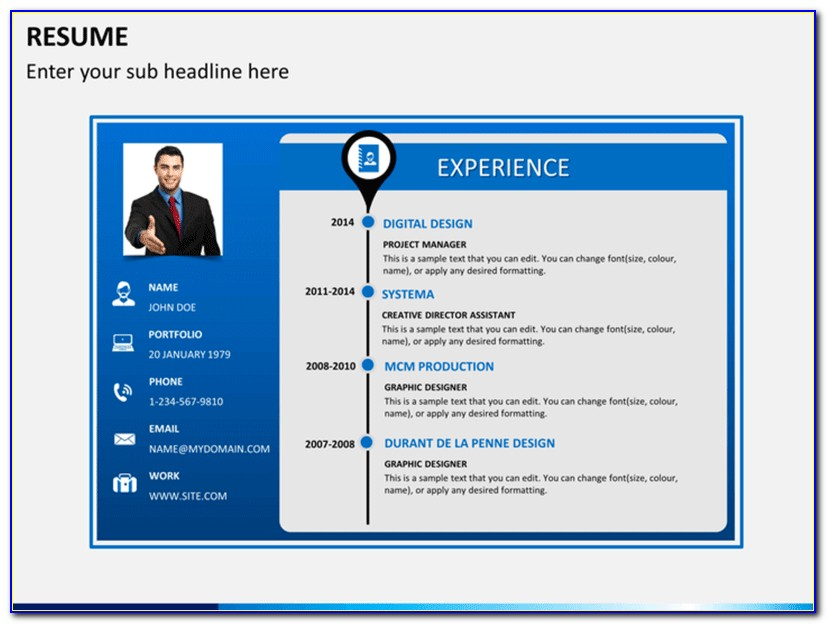 Powerpoint Resume Template Free Download