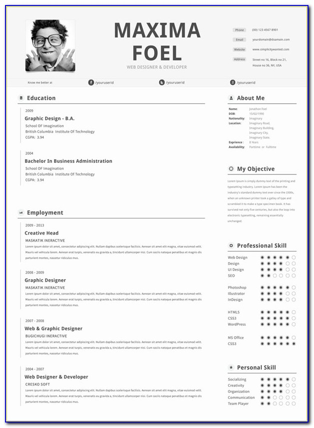 Premium Resume Templates Free Download