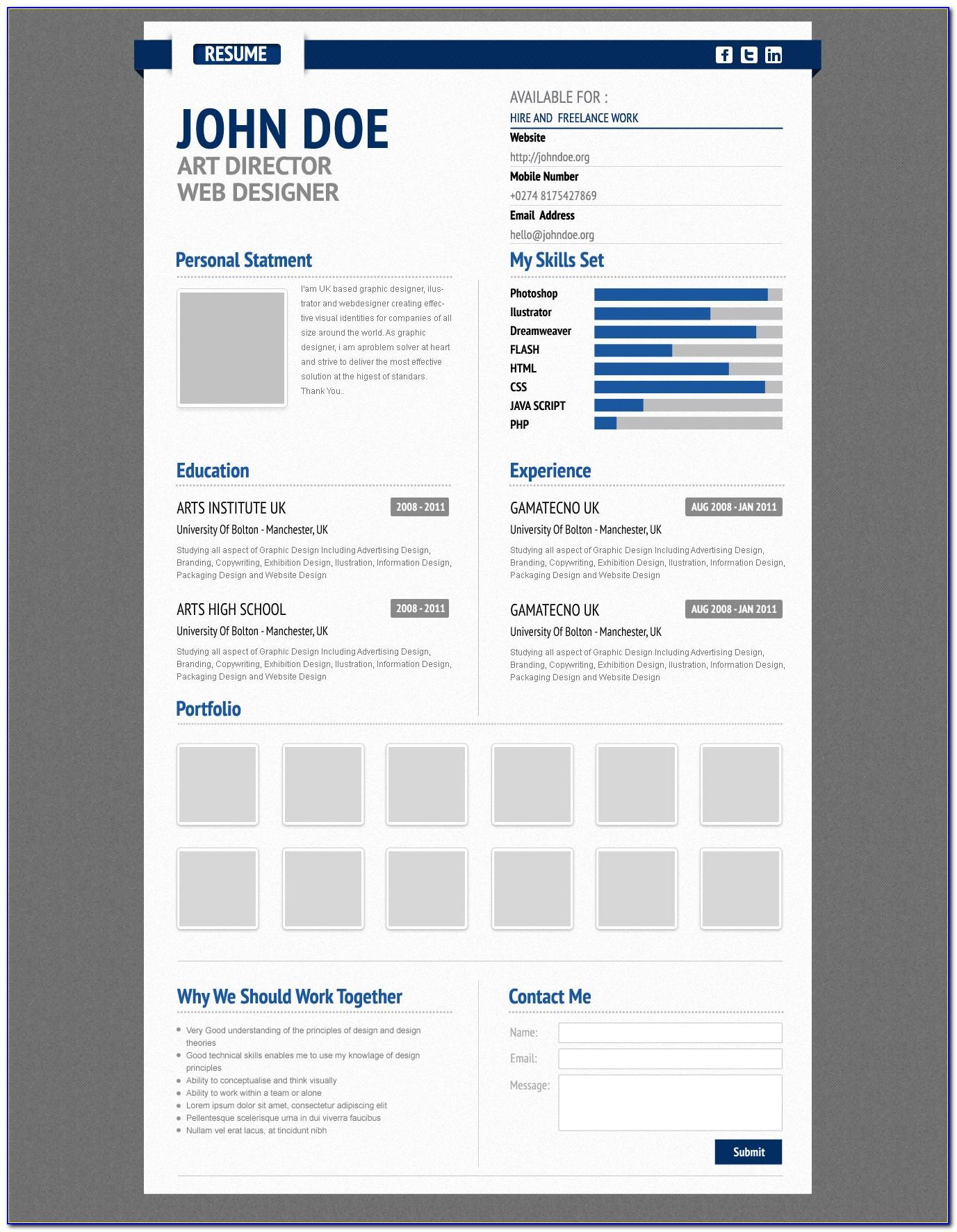 Premium Resume Templates Free