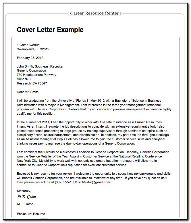 Preparing Your Resume And Cover Letter