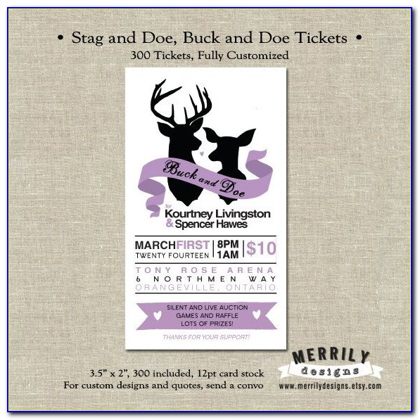 Printable Jack And Jill Ticket Templates